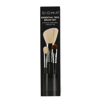 Sigma Beauty Essential Trio Brush Set - # Black