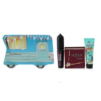 Benefit Gorgeous Travels Fast Set: Mini The POREfessional Face Primer 7.5ml + Hoola Matte Powder Bronzer 8g + Mini BADgal BANG! Volumizing Mascara 4g