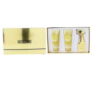 Moschino Gold Fresh Couture Coffret: EDP Spray 50ml/1.7oz + The Freshest Body Lotion 100ml/3.4oz + The Freshest Bath & Shower Gel 100ml/3.4oz