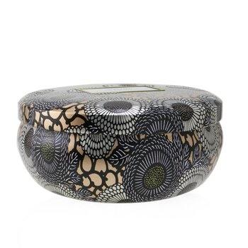 Voluspa 3 Wick Decorative Tin Candle - Yashioka Gardenia