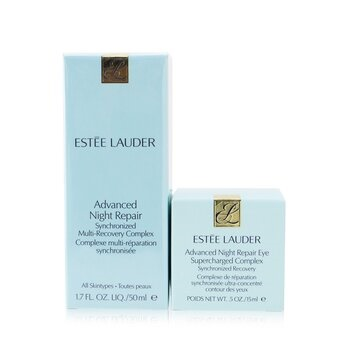 Estee Lauder Advanced Night Repair Set: Synchronized Multi-Recovery Complex 50ml+ Eye Supercharged Complex 15ml