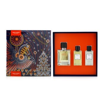 Hermes Terre D'Hermes Coffret: EDT Spray 50ml/1.6oz + Hair And Body Shower Gel 40ml/1.35oz + After-Shave Lotion 40ml/1.35oz