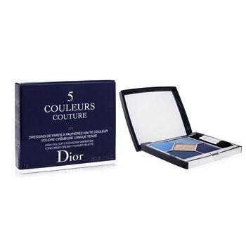 Christian Dior 5 Couleurs Couture Long Wear Creamy Powder Eyeshadow Palette - # 279 Denim