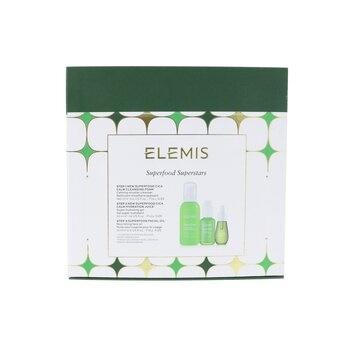 Elemis Superfood Superstars Set: CICA Calm Cleansing Foam 180ml+ CICA Calm Hydration Juice 50ml+ Facial Oil 15m
