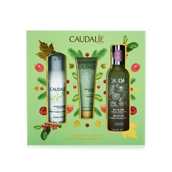 Caudalie The Beauty Essentials Set: Beauty Elixir 100ml+ Instant Foaming Cleanser 50ml+ Glycolic Peel 15ml