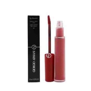 Giorgio Armani Lip Maestro Intense Velvet Color (Liquid Lipstick) - # 410 (Sienne) (Box Slightly Damaged)