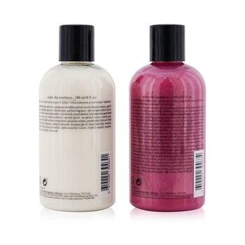 Philosophy Under The Mistletoe 2-Pieces Set: Shampoo, Shower Gel & Bubble Bath Gel 240ml + Body Lotion 240ml