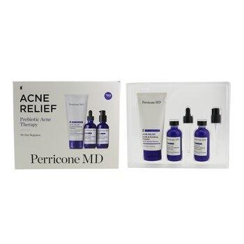 Perricone MD Acne Relief Prebiotic Acne Therapy - 90 Day Regimen Set:  Cleanser 177ml + Hydrator 59ml + Moisturizer 59ml