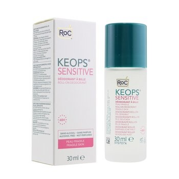 ROC KEOPS Sensitive Roll-On Deodorant 48H - Alcohol Free & Not Perfumed (Fragile Skin)