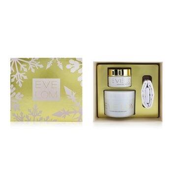 Eve Lom Begin & End Gift Set: Cleanser 200ml/6.8oz + Moisture Cream 50ml/1.6oz + Muslin Cloth