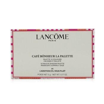 Lancome Cafe Bonheur La Palette (10x Eye Shadow) (Limited Edition) - #01 L'Addition S'il Vous Plait