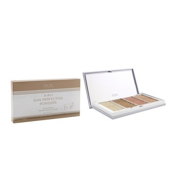 PUR (PurMinerals) 4 in 1 Skin Perfecting Powders Face Palette (1x Setting Powder, 1x Bronzer, 1x Highlighter, 1x Blush) - # Fair Light