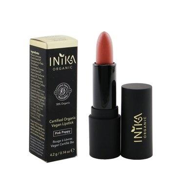 INIKA Organic Certified Organic Vegan Lipstick - # Pink Poppy