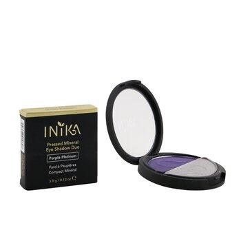 INIKA Organic Pressed Mineral Eye Shadow Duo - # Purple Platinum