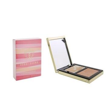 Bobbi Brown Highlighting Powder Duo (Love's Radiance Collection) - # Peach Glow