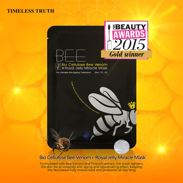 Timeless Truth TT Bee Venom Miracle Facial Sheet Mask (Value Pack of 5 Masks)